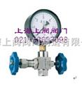 J19H-160P 压力表三通针型阀 J19W-320P压力表针型阀 针型截止阀