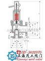 供應MWA44C美標波紋管安全閥上海茂工閥門